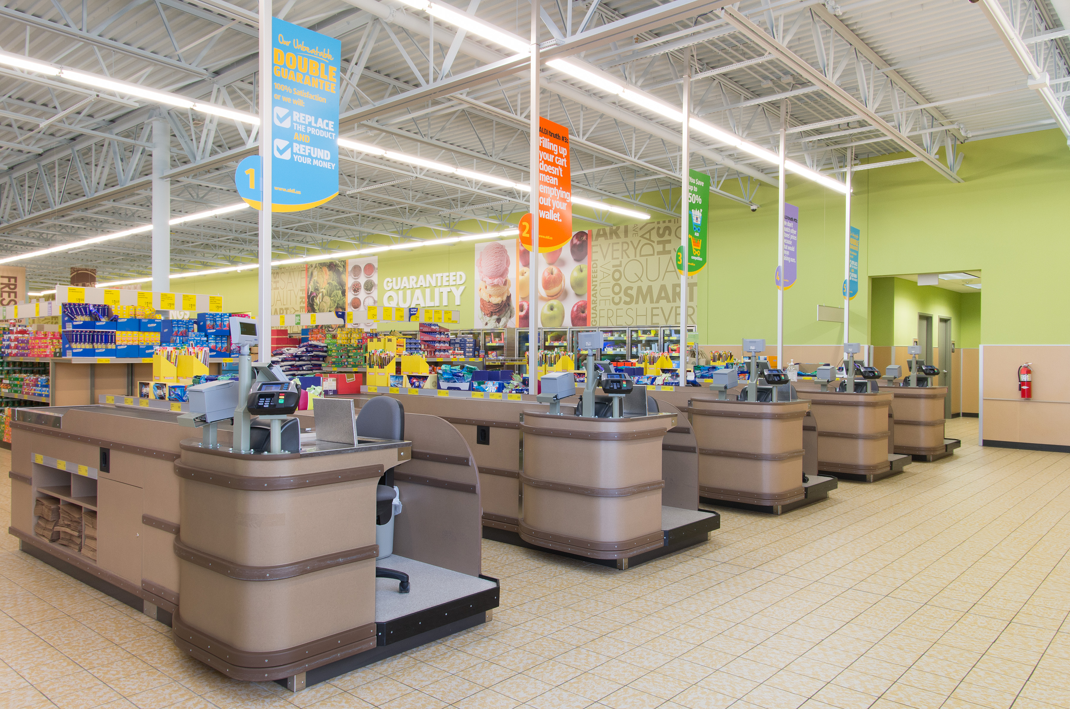 Aldi introduces Healthier Checklanes
