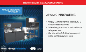 July 13th MicroThermics Launches 3-D Virtual Tradeshow and AI Line of Processors