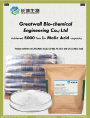 Greatwall biochemical achieves 5000 Tons L Malic Acid annual capacity