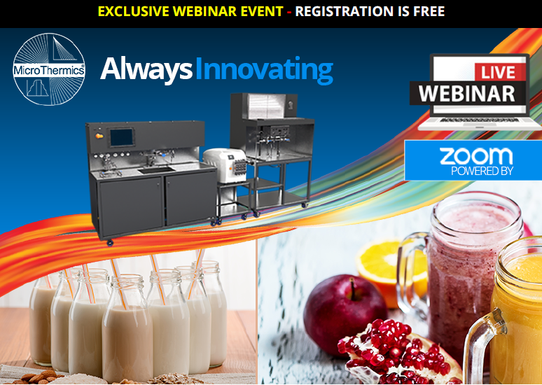 November Webinar Series Invite for UHT/HTST/pasteurization aseptic processing for R&D