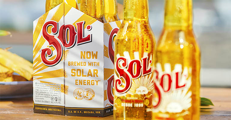 Heineken is now brewing its Sol beer with solar