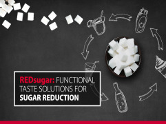 REDsugar: Functional taste solutions for 30% sugar reduction