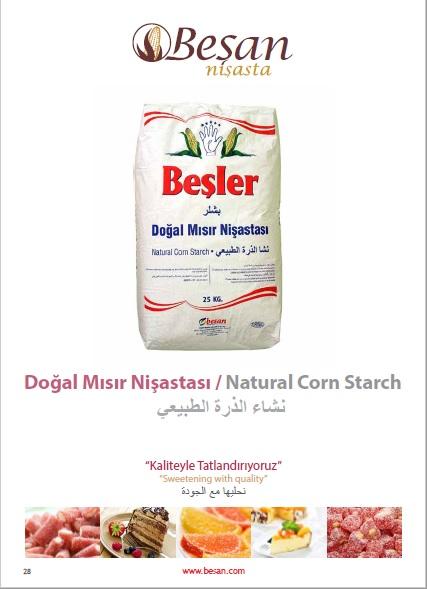 Natural Corn Starch | Besan Nisasta Gida Sanayi ve Tic  A S