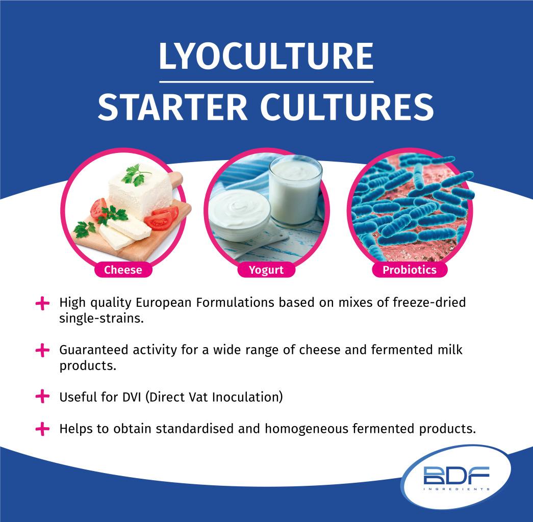 Starter Cultures - LYOCULTURE Dairy | BDF Natural