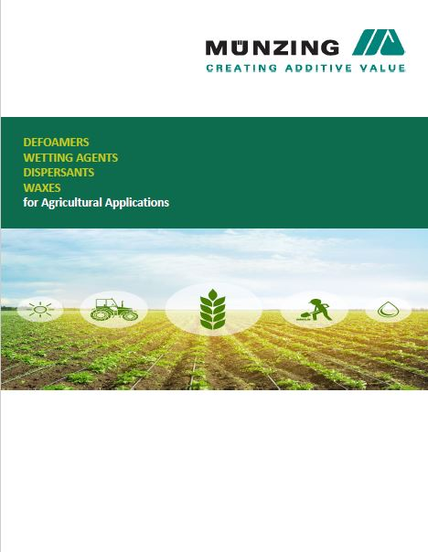 DEFOAMERS, WETTING AGENTS, DISPERSANTS and WAXES for Agricultural Applications