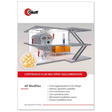 Glatt GF ModFlex - Continuous  Fluidised Bed Spray Agglomeration
