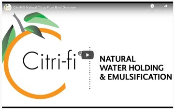 Citri-Fi Natural Citrus Fiber Functionality Overivew