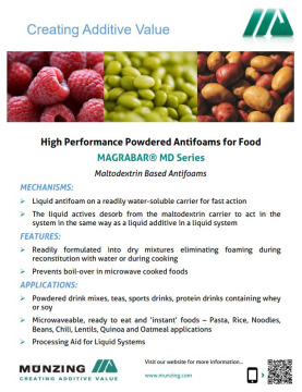 High Performance Food Grade Powdered Antifoams
