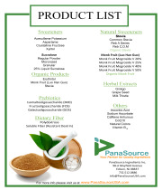 PanSource Ingredients Product List
