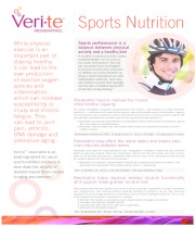 Veri-te™ Resveratrol Sports Nutrition