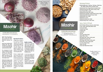 Brief Introduction of Maahir Foods